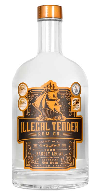 Illegal Tender Rum Co – 1808 Barely Legal White Rum - Specialty Spirits