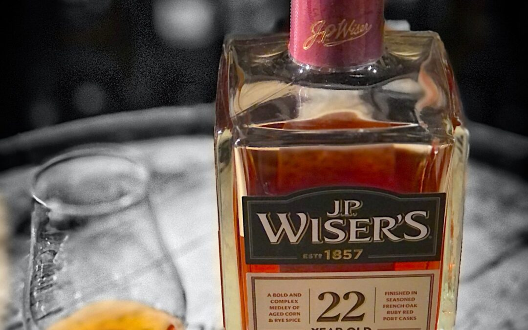 J.P. Wiser's 22 Year Old Cask Strength Blend Port Cask Finish Canadian Whisky Review